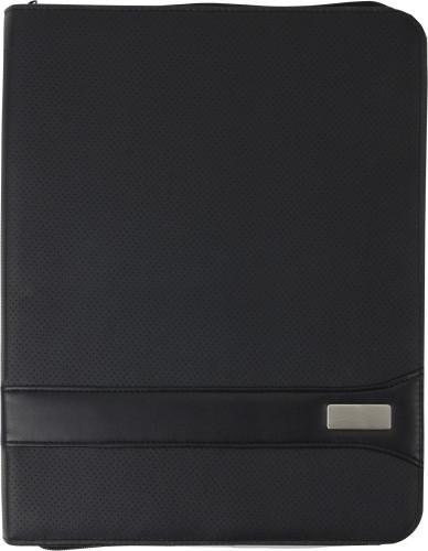 A4 PVC Zipped folder.