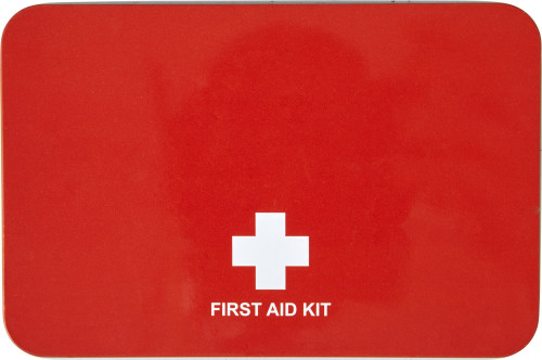 Metal tin first aid kit