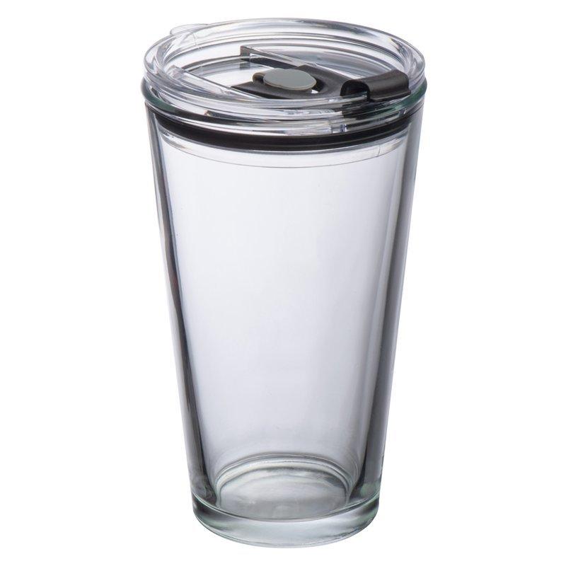 Glass mug with lid Wattenschei
