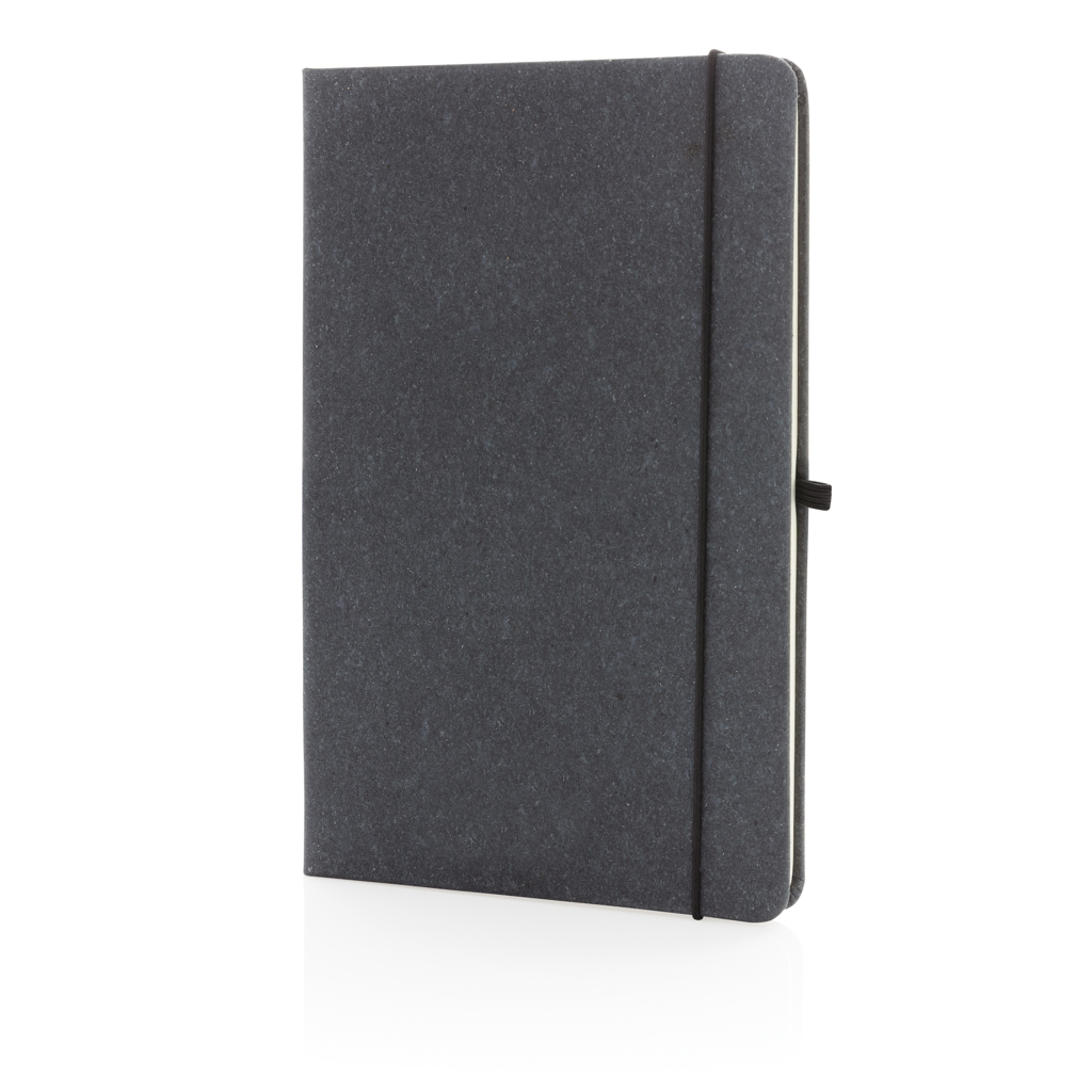 Recycled leather hardcover notebook A5