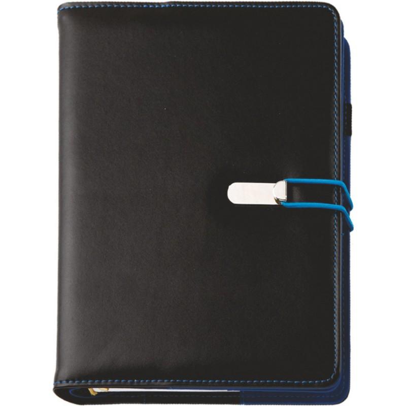 Agenda de lux CLIO Nero/Blu, 15 x 21 cm