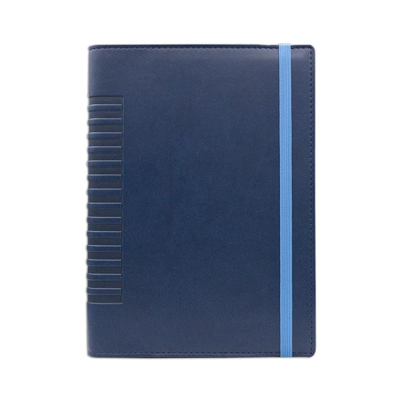 Agenda de lux Cometa cu elastic Blu/Bleu, 15 x 21 cm