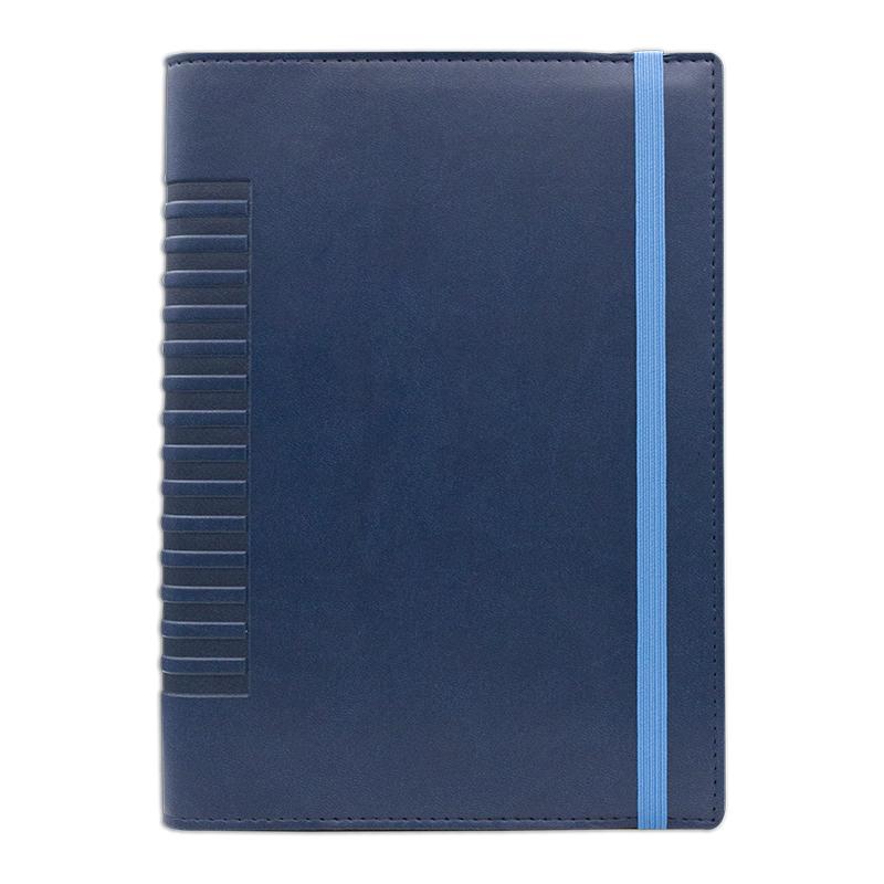 Agenda de lux Cometa cu elastic Blu/Bleu, 17 x 24 cm