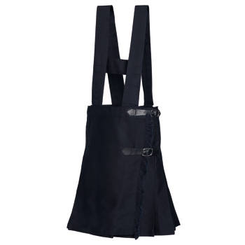 SCHOOL SKIRT WITH STRAPS SKIRT S/2 NAVY BLUE