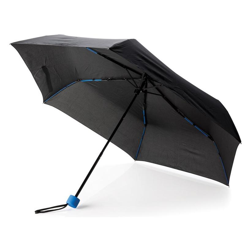 "Coloured 21"" fibreglass foldable umbrella"