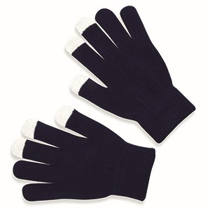 Tactile gloves for smartphones - navy