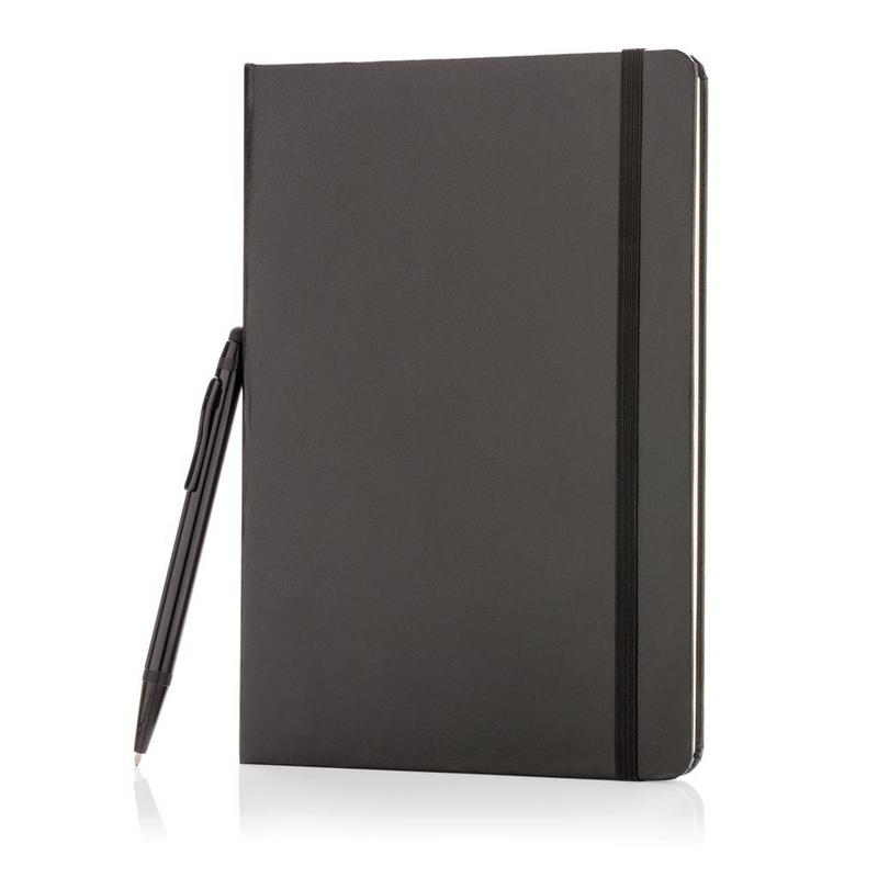 Standard hardcover A5 notebook with stylus pen