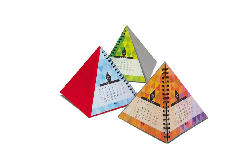 Calendar de birou PIRAMIDA CV11 rosu