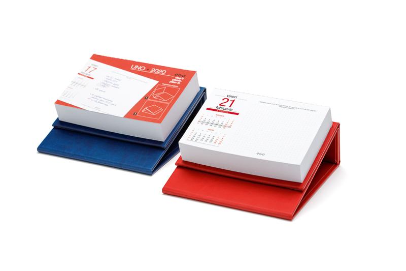 Calendar de birou UNO CV3 albastru