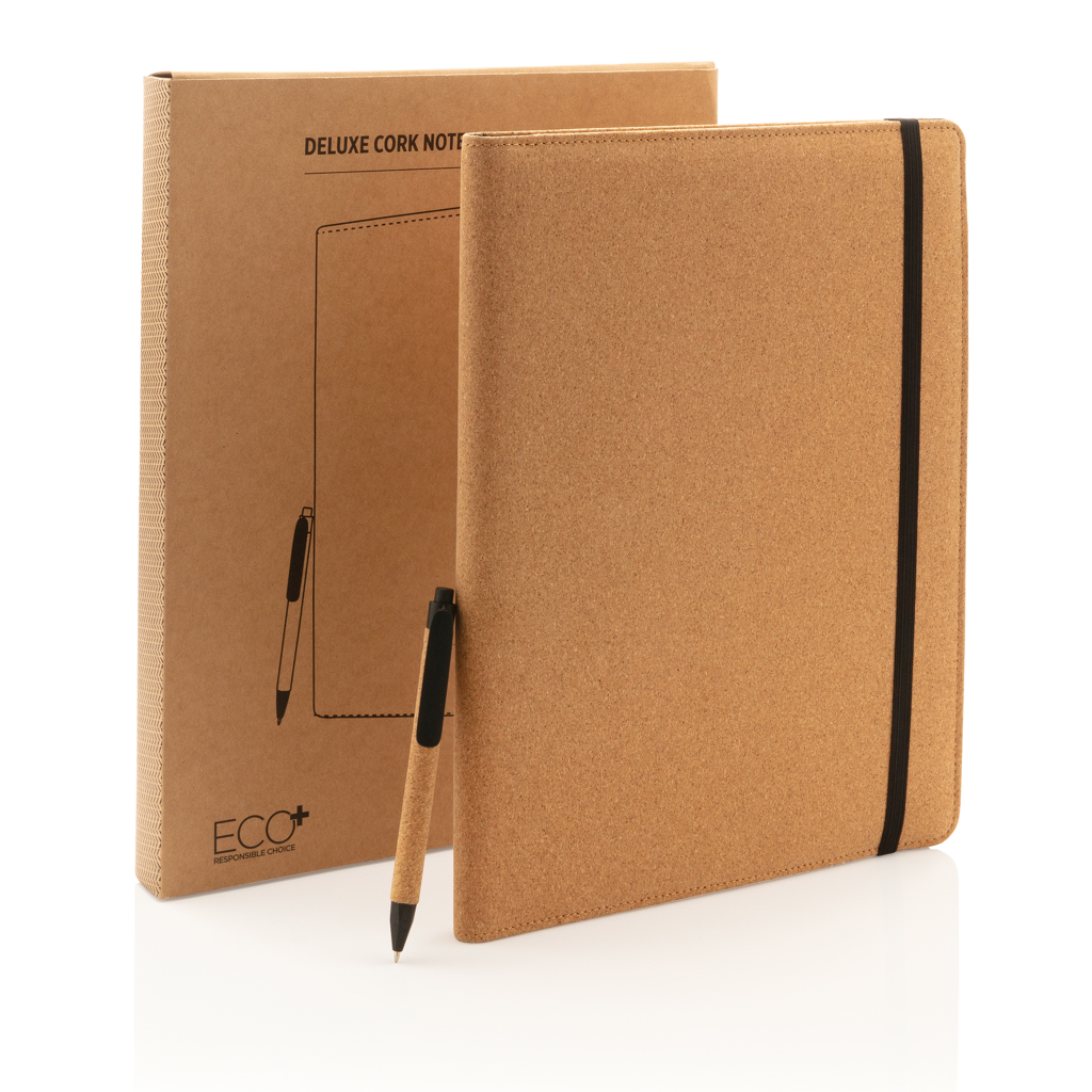 Deluxe cork portfolio A4 with pen