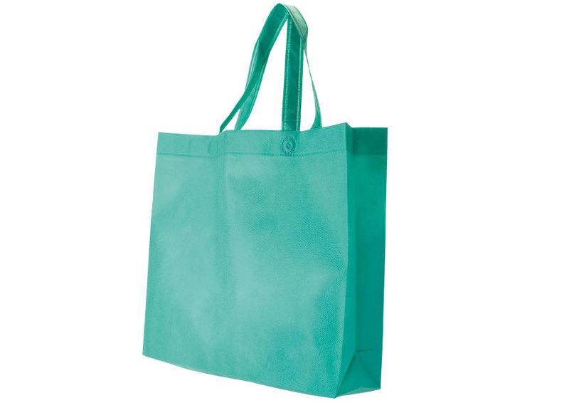 BAG IN TNT GREEN 38X34X10 cm