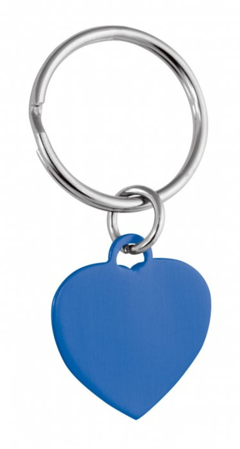 PENDANT BLUE HEART - 25x22 mm