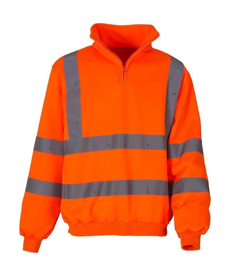Fluo 1/4 Zip Sweat Shirt