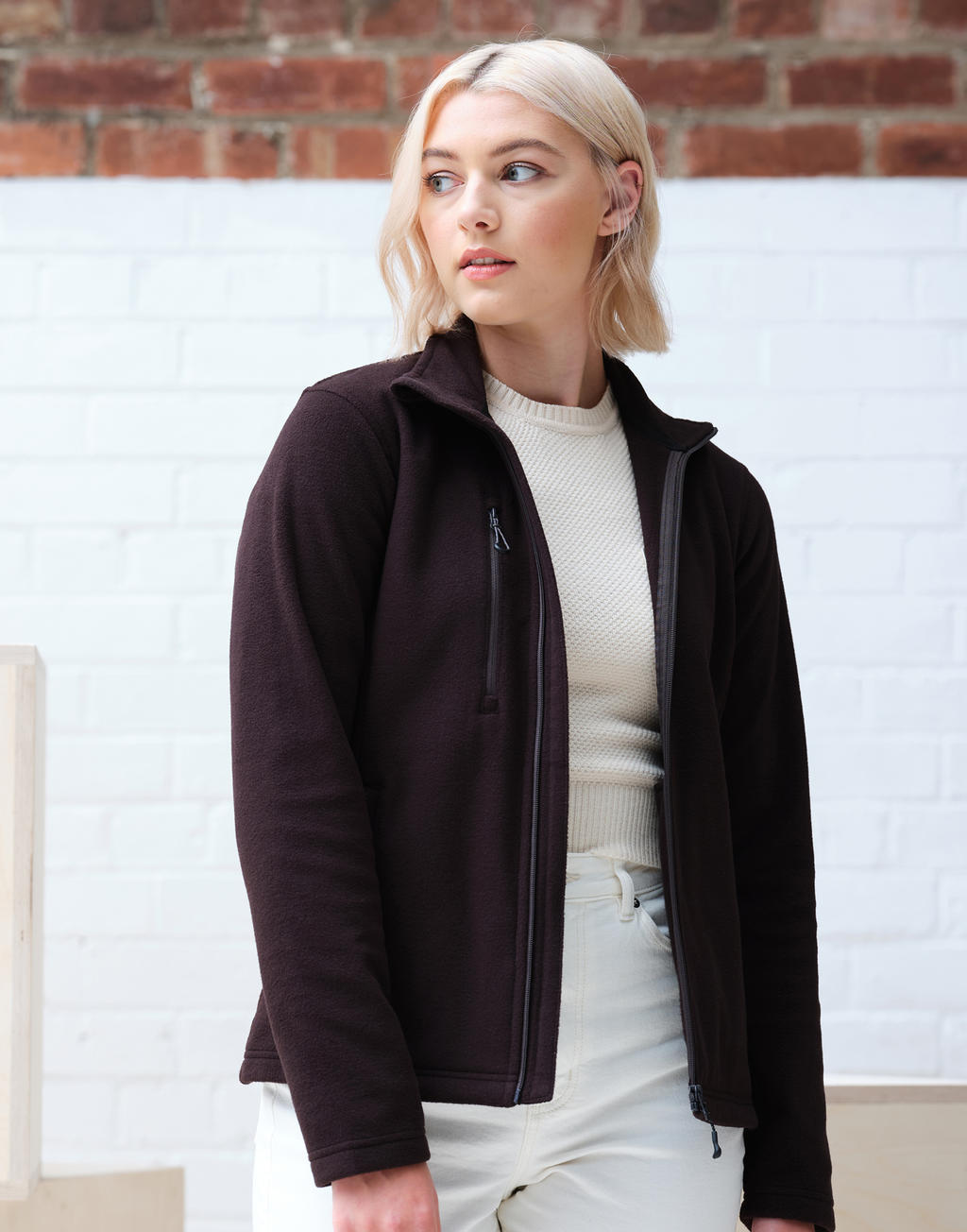 Women's Honestly Made Recycled Full Zip Fleece