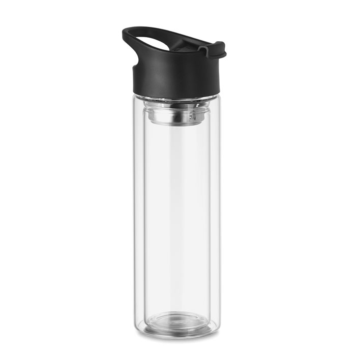 Double wall glass bottle 380ml