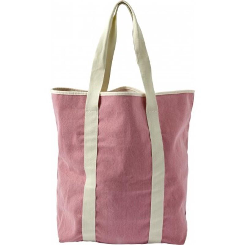 Twill cotton two-tone beach bag
