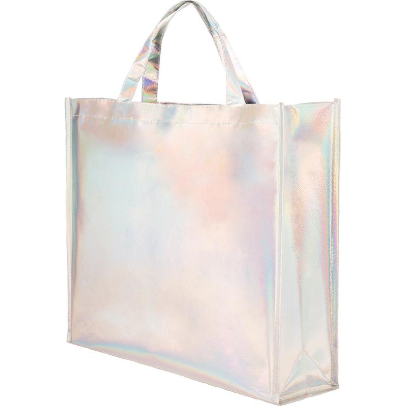 LAMINATED NON WOVEN IRIDESCENT SHOPPING BAG