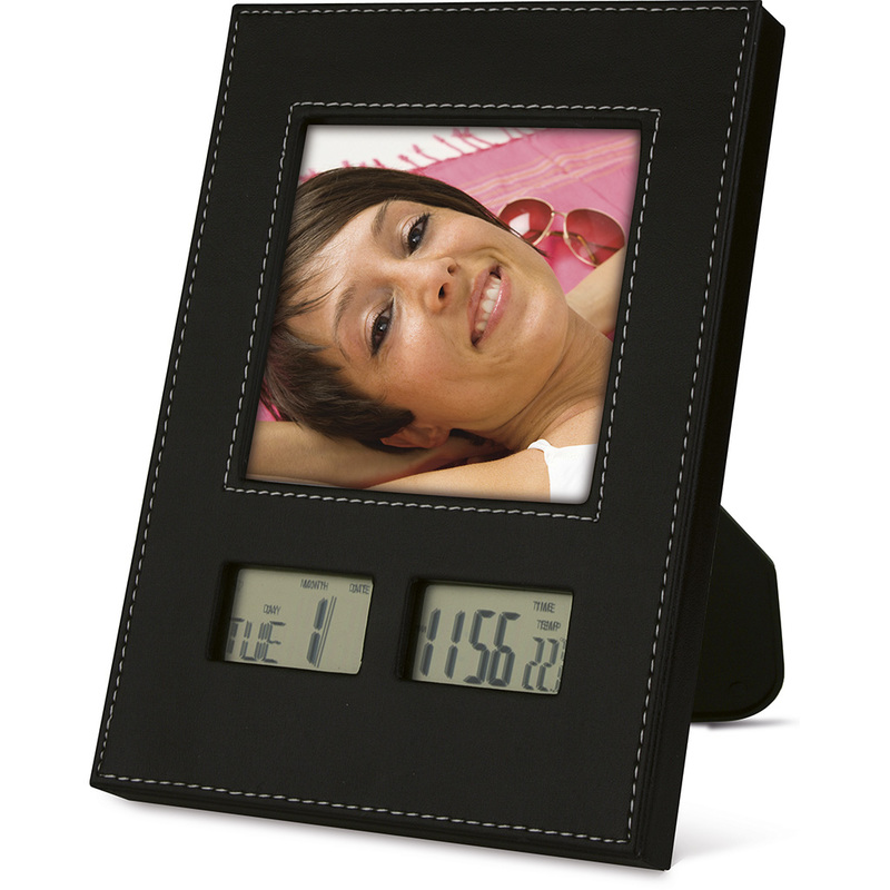 LCD CLOCK WITH PHOTOGRAPH HOLDER