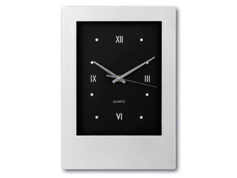 ROMANO walll clock, Satin silver