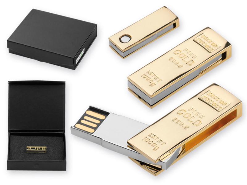 USB FLASH 51 metal USB FLASH 8GB supporting interface 2.0, Golden