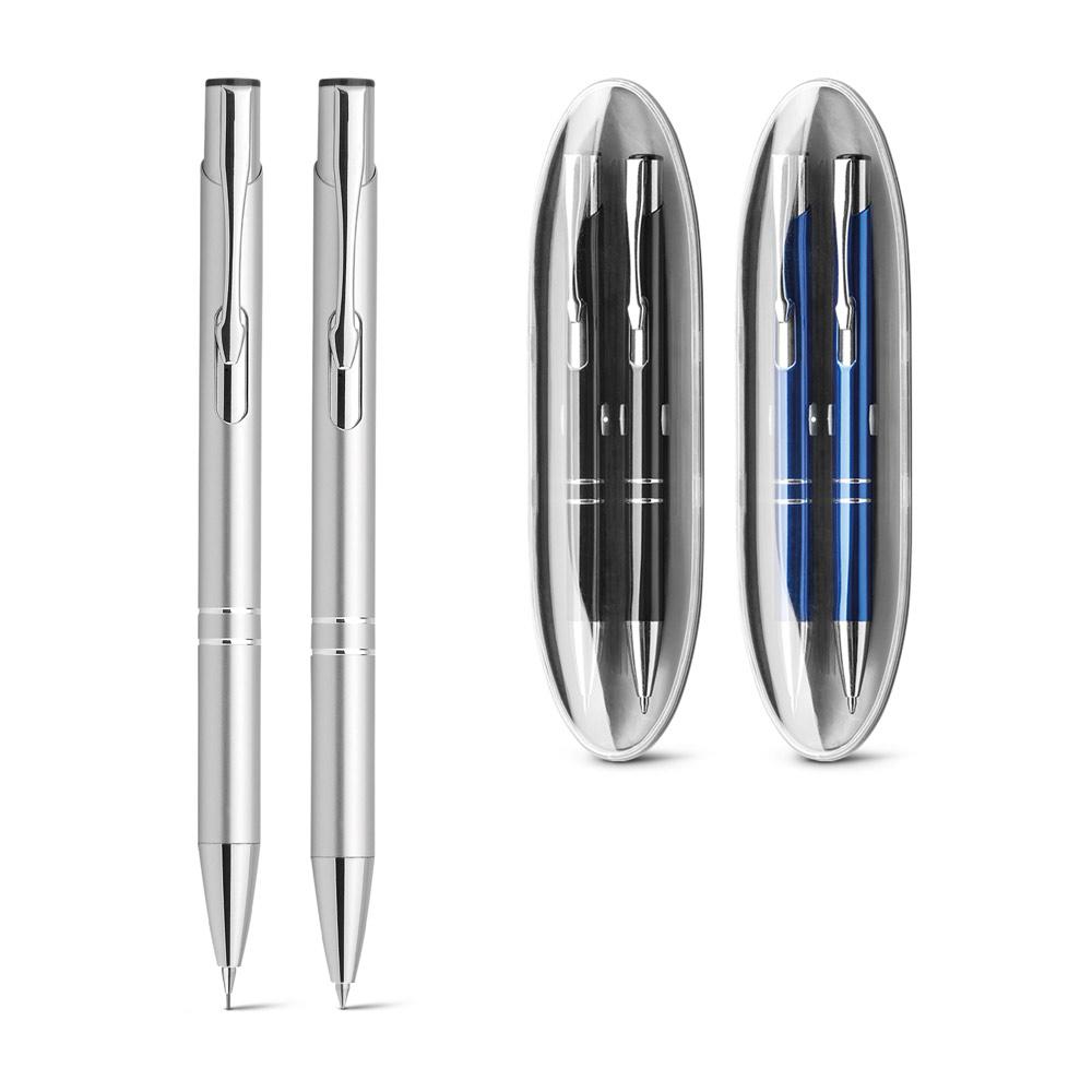 BETA SET. Ball pen and mechanical pencil set in metal