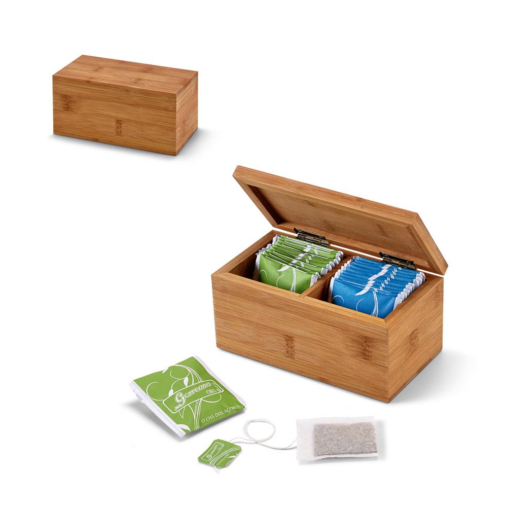 BURDOCK. Bamboo tea box