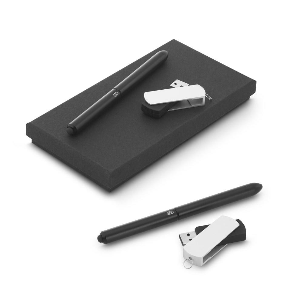 Thales. Ball pen and USB flash drive set, 4GB