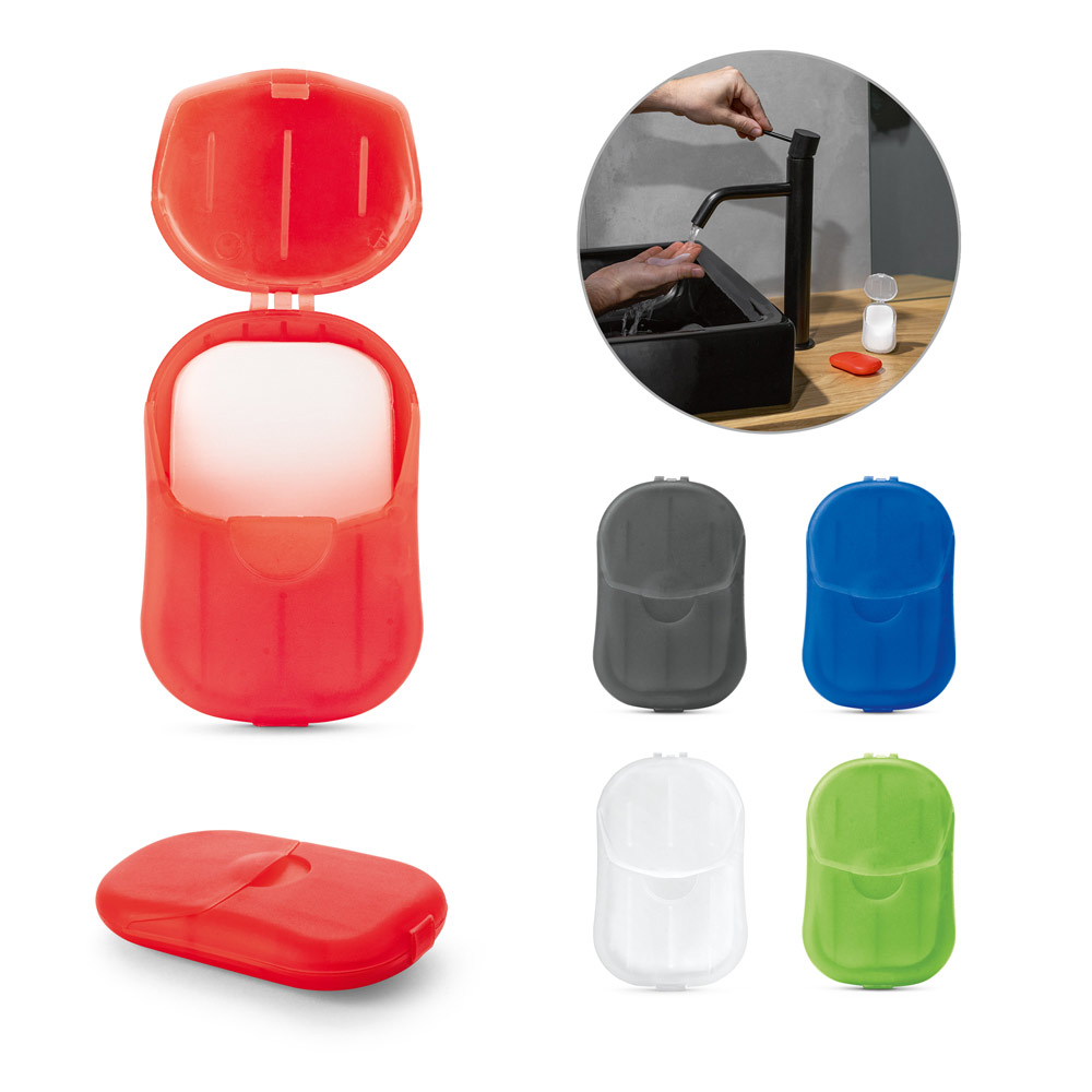 JULIPER. Case with 20 soap sheets