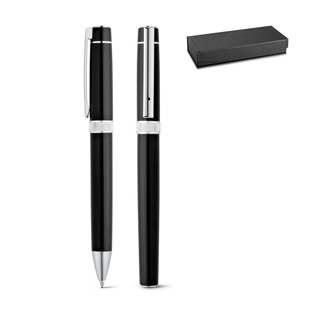 DOURO. Roller pen and ball pen set in metal