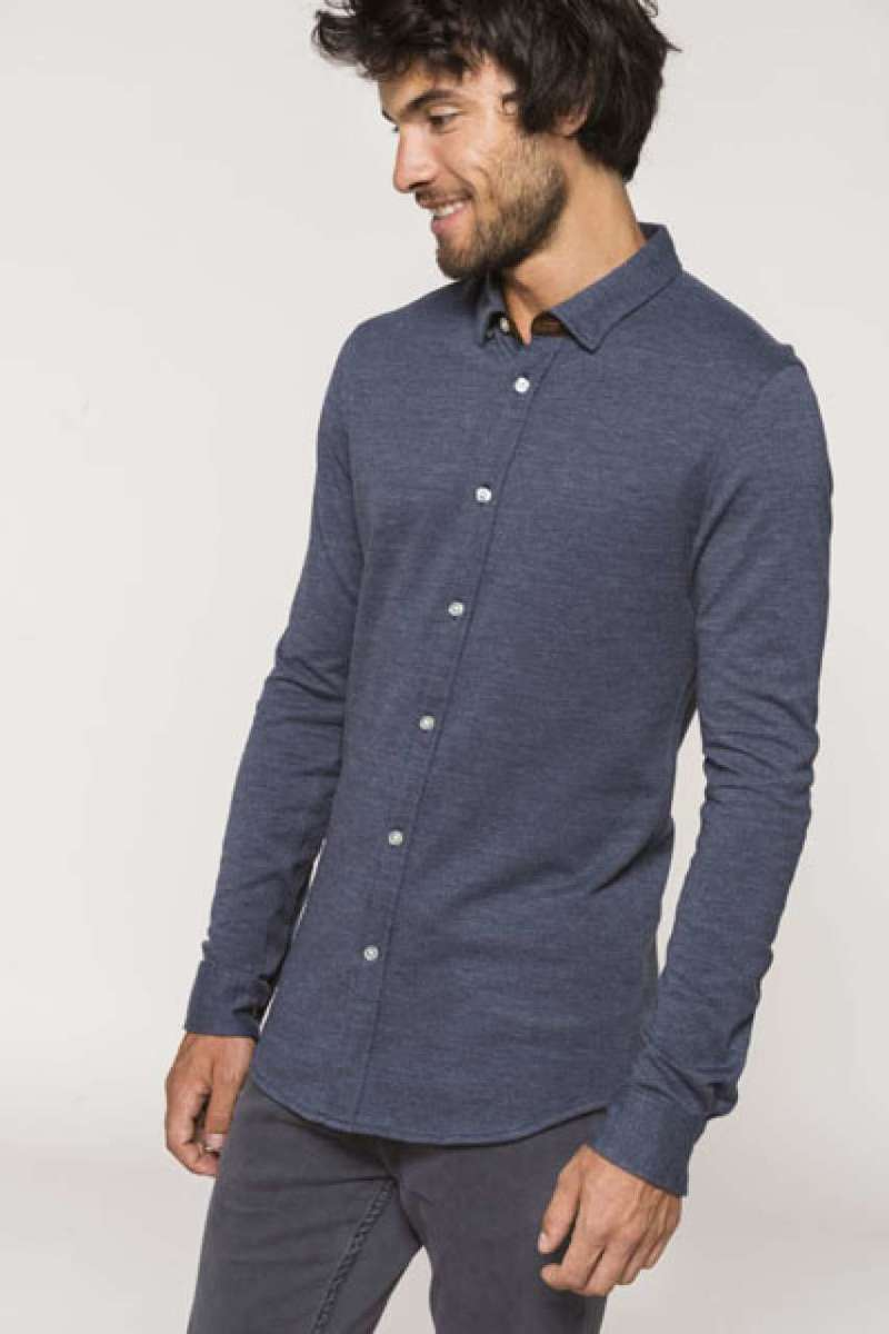 LONG SLEEVE JACQUARD KNIT SHIRT
