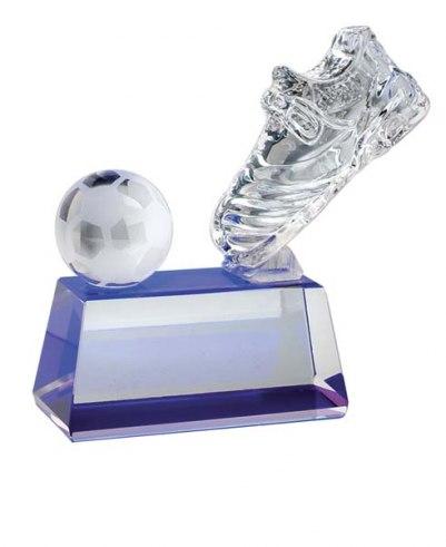 TROPHY FOOTBALL-SHOE / BLUE BASE