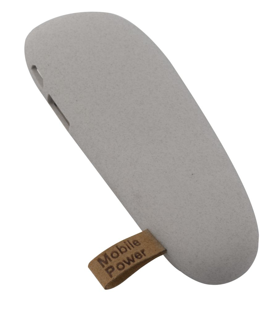 Stone Peeble Power Bank 2600 mAh, light grey