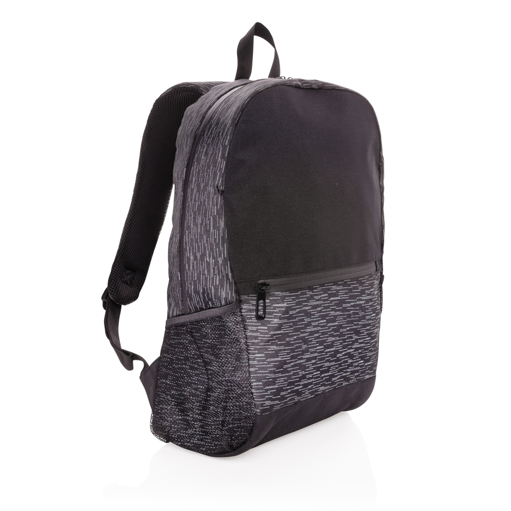 AWARE™ RPET Reflective laptop backpack