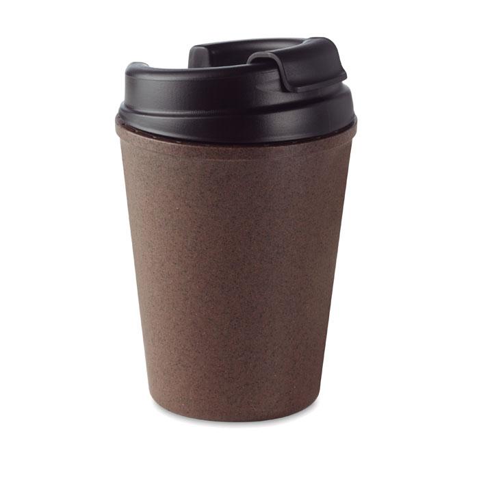 Double wall mug coffee husk/PP