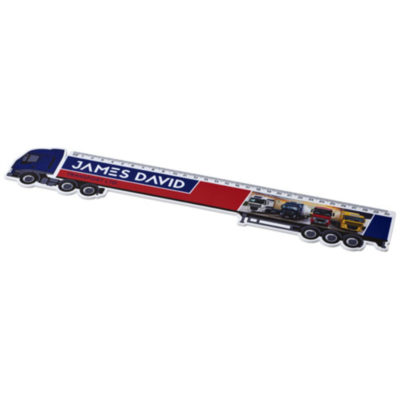 Loki 30 cm lorry shaped plastic ruler