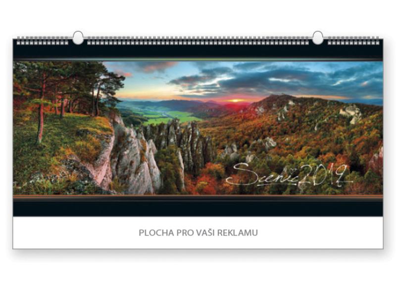 SCENIC wall calendar, 68x33 cm