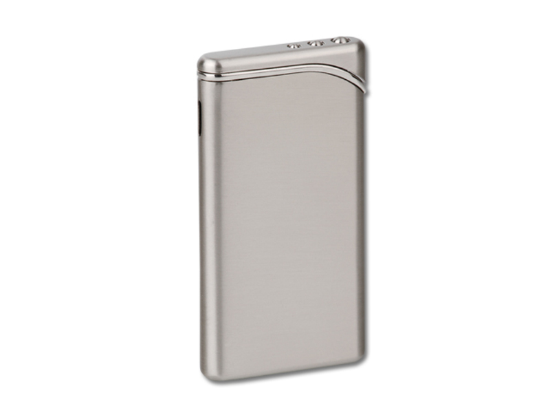 LIZARD metal piezzo lighter, refillable, Nickel