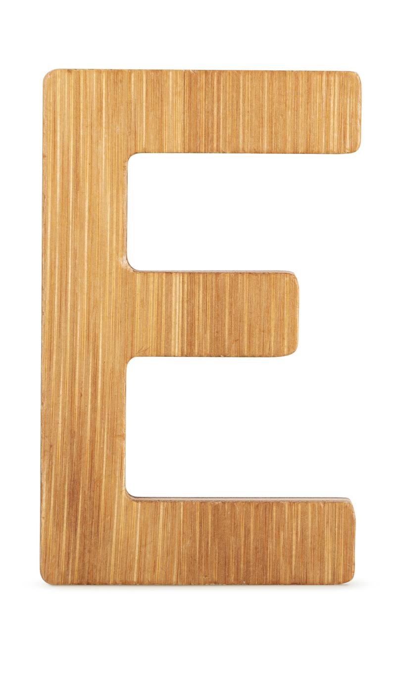 ABC Bamboo Letters E