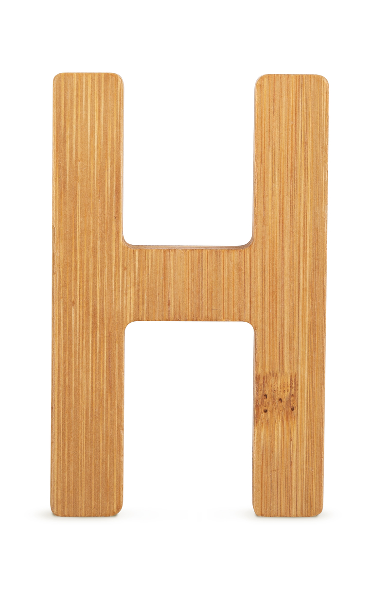 ABC Bamboo Letters H