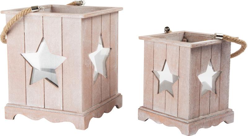 Wooden Lantern Shabby Chic