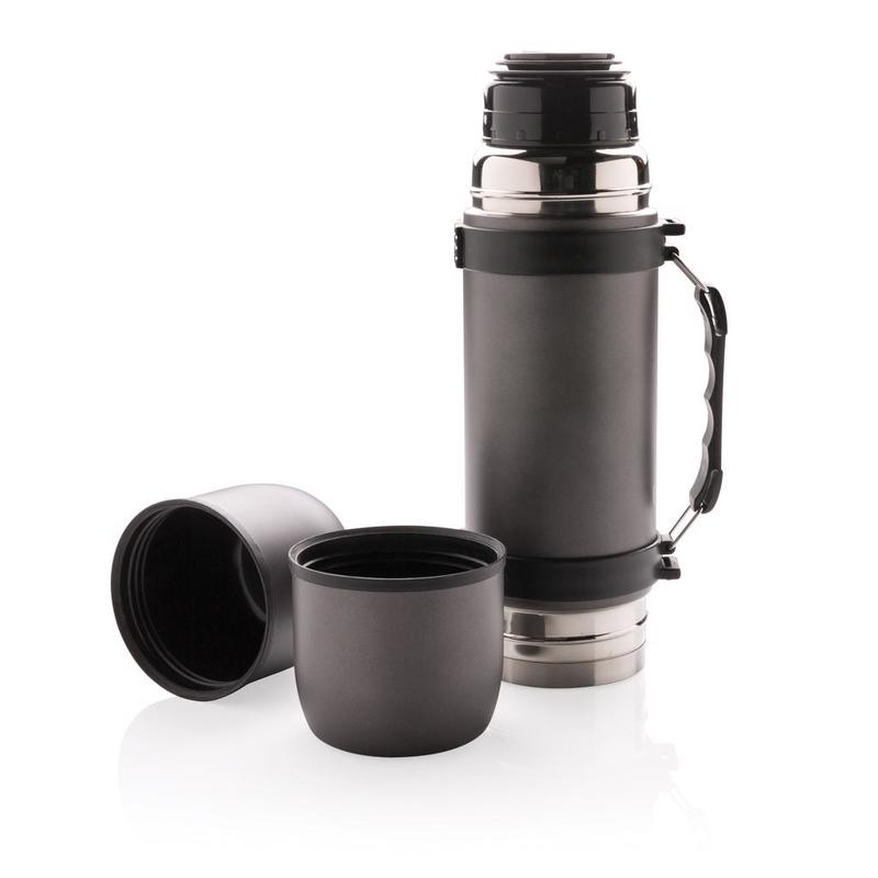 Vacuum flask with 2 cups