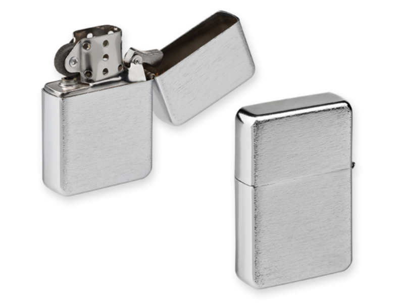 CHAMP petrol lighter, Satin silver