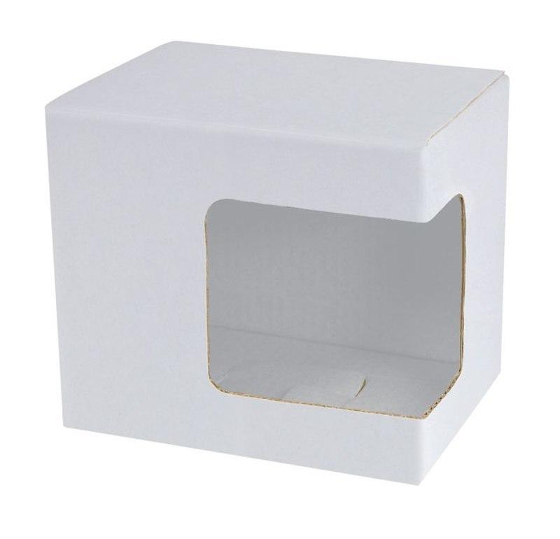CARDBOARD BOX WINDOW FOR CUPS