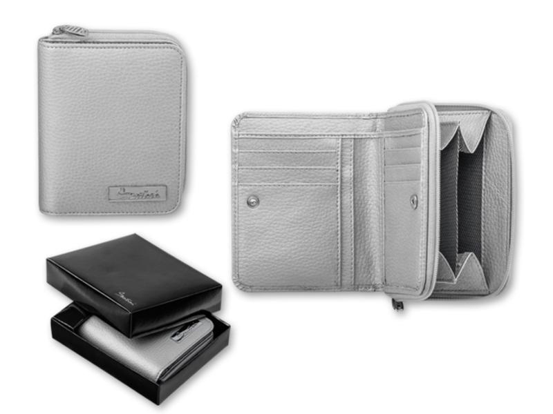 CESSIE women's wallet, SANTINI, Silver