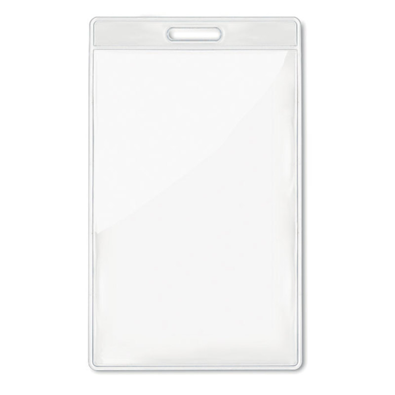 Transparent badge 7,5cmx12,5cm