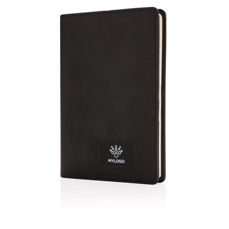 Light up logo notebook