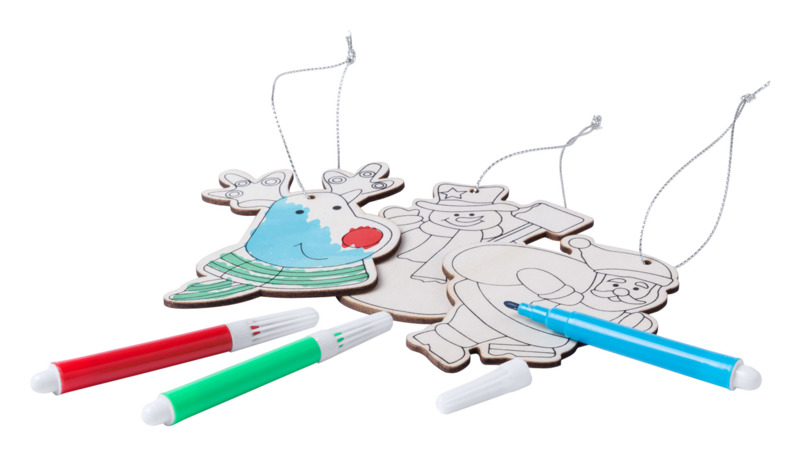 Bancax colouring christmas tree ornament set