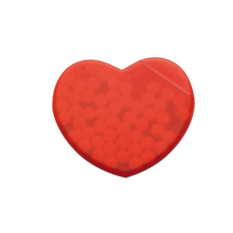Heart shape peppermint box