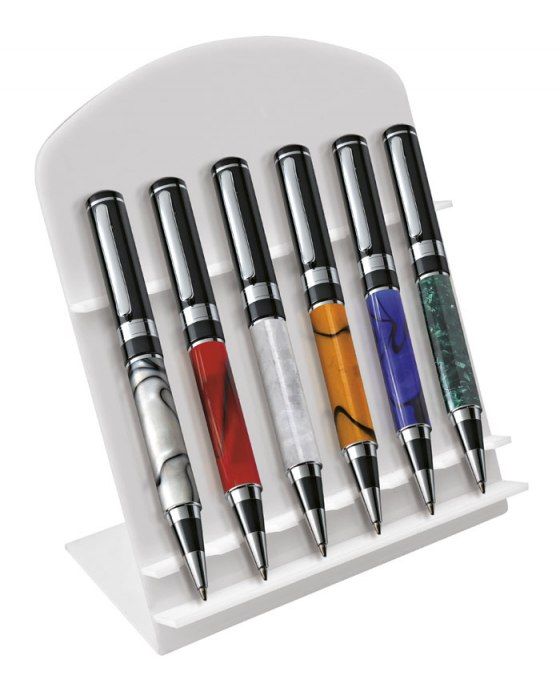 DISPLAY STAND FOR PENS WHITE ACRYLIC