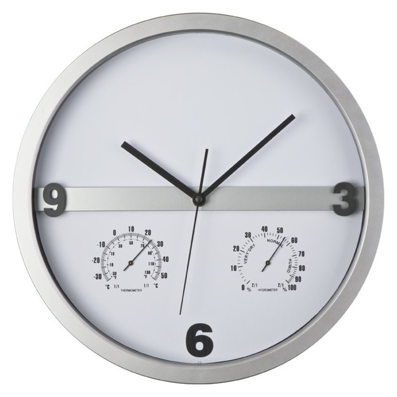 Wall clock, half display print